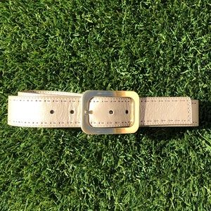 Cole Haan light gold belt with brass buckle